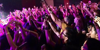 「YouTuber登場の瞬間」シンガポール イベント会場、中の風景